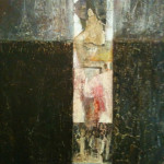 Abstract Figure, mixed media on canvas, 36X48 in. AVAILABLE